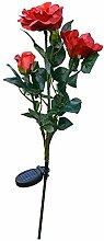B Blesiya Rose Blumen Gartenlampe Solar