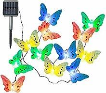 B Blesiya Schmetterling Lichterkette für Garten