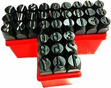 B Blesiya Stahl Schlag Alphabet Nummer Stempel Metall Leder Handwerk Werkzeuge