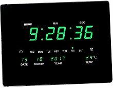 B Blesiya XXL LED Wanduhr Digital Uhr mit Datum
