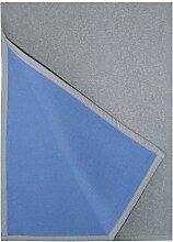 b.casual Kaschmirdecke/Wolldecke zweifarbig (200cm x 160cm) (Hellgrau/Hellblau)