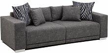 B-famous Big Sofa London-XLStruktur grau, 237x103 cm,