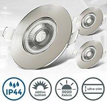 B.k.licht - 3x LED Einbaustrahler Bad Spots