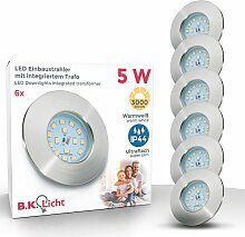 B.k.licht - 3x LED Einbaustrahler ultra-flach