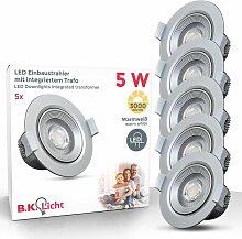 B.k.licht - 5 Einbaustrahler LED Spots Strahler