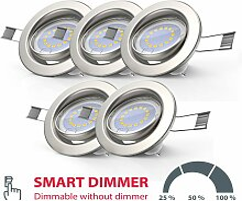 B.k.licht - 5x LED Einbaustrahler dimmbar ohne
