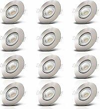 B.K.Licht I 12er Set LED Einbauleuchten I