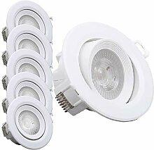 B.K.Licht I 5er Set schwenkbare LED Einbauleuchten