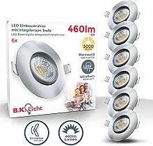B.K.Licht I 6er Set LED Einbaustrahler I Warmweiß