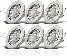 B.K.Licht I schwenkbare LED Einbaustrahler I