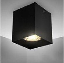 B.K.Licht LED Aufbaustrahler, GU10 Fassung, Eckig,