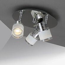 B.K.Licht LED Deckenleuchte, GU10, Warmweiß, Bad