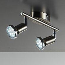 B.K.Licht LED Deckenspots Mika 2, GU10, Warmweiß,
