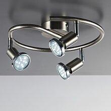 B.K.Licht LED Deckenspots Mika 3, GU10, Warmweiß,