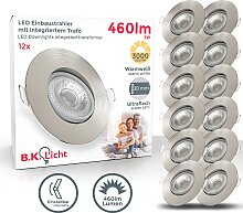 B.K.Licht,LED Einbauleuchte 12 -flg. /, Ø9 cm /