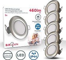 B.K.Licht,LED Einbauleuchte 5 St., -flg. / Ø8,5