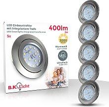 B.K.Licht,LED Einbauleuchte 5 St., -flg. / Ø8,6