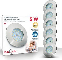 B.K.Licht,LED Einbauleuchte 6 St., -flg. /, Ø7,5