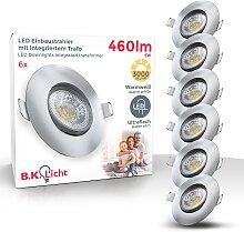 B.K.Licht,LED Einbauleuchte 6 St., -flg. /, Ø9 cm