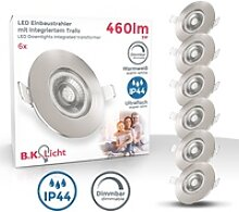 B.K.Licht LED Einbauleuchte, 6er Set dimmbare LED