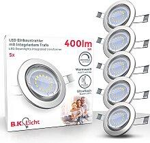 B.K.Licht LED Einbauleuchte, GU10, 5 St.,