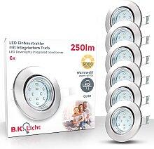 B.K.Licht LED Einbauleuchte Hila, GU10, 6 St.,