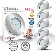 B.K.Licht LED Einbauleuchte Iris V, LED-Board, 5