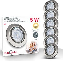 B.K.Licht,LED Einbauleuchte Layna 6 St., -flg. /,