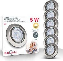 B.K.Licht LED Einbauleuchte Layna, GU10, 6 St.,