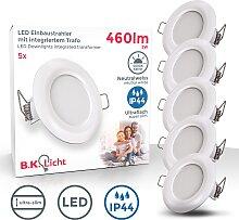 B.K.Licht LED Einbauleuchte, LED-Board, 5 St.,