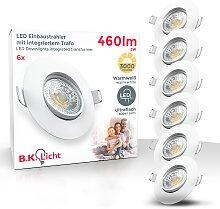 B.K.Licht LED Einbauleuchte, LED-Board, 6 St.,
