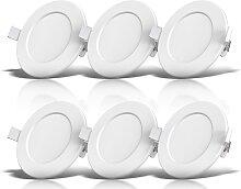 B.K.Licht LED Einbauleuchte, LED-Modul, Warmweiß,
