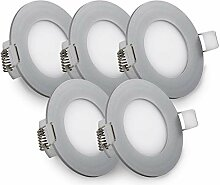 B.K.Licht LED Einbauleuchte Ultra Flach Ø85mm