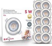B.K.Licht LED Einbauleuchte Volantis, 10er Set 5W