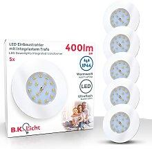 B.K.Licht,LED Einbaustrahler 5 St., -flg. /, Ø7,5