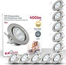 B.K.Licht LED Einbaustrahler, GU10, 10 St.,