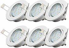 B.K.Licht LED Einbaustrahler I Schwenkbar I Inkl.