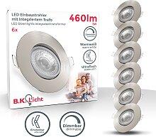 B.K.Licht LED Einbaustrahler, LED-Board, 5 St.,