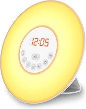 B.K.Licht,LED Nachttischlampe 9 -flg. /, Ø17,0 cm