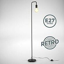 B.k.licht - Stehlampe Retro Bogen Schwarz Metall