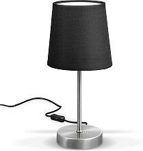 B.K.Licht Tischleuchte, E14, LED Nachttischlampe
