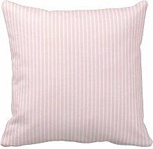 B Lyster Shop Pastell Rosa Streifen # 1977W Baumwolle & Polyester Soft Reißverschluss Kissen werfen Fall Kissen Schutzhülle