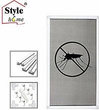 B-Ware, Alu Rahmen Fliegengitter für Fenster Insektenschutz Mückengitter Gitter (Weiß/130x150) keine Rückgabe möglich!Mängel im Lack oder Fiberglas können auftreten, Chemikaliengeruch