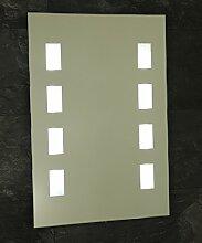 B-WARE Wandspiegel Badspiegel Neon Badezimmerspiegel Wand Spiegel Ambiente-Light 70 x 50 cm