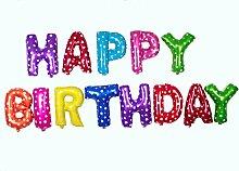 Baanuse HAPPY BIRTHDAY Buchstaben Ballons,
