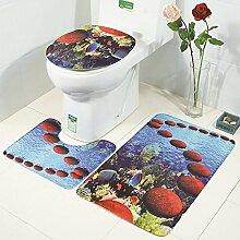 BaBaSM Dauerhaft 3 Stück Flanell Badezimmer Set