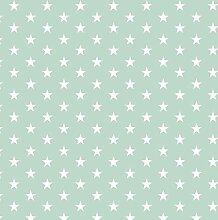 babrause® Baumwollstoff Sternchen Mint Webware