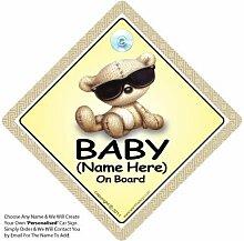 BABY a Schattierungen PERSONALISIERT Auto