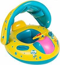 Baby-aufblasbarer Swimmingpool / Strand-Schwimmer-Sitz-Kleinkind-Kind-Schwimmen-Ring-Wasser-Spielwaren mit Sonnenschutz-Baldachin