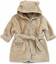 Baby Bademantel mit Kapuze - Teddy